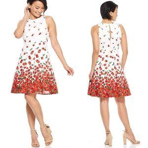 Maggy London ••Fit & flare cherry print dress